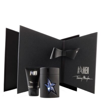 A*Men Rubber Flask Mugler - Masculino - Eau de Toilette - Perfume + Gel de Banho - Kit