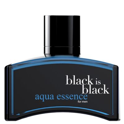 Imagem 1 do produto Black is Black Aqua Essence Nu Parfums - Perfume Masculino - Eau de Toilette - 100ml
