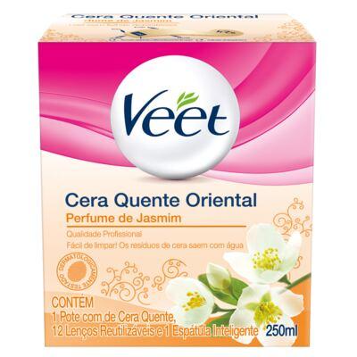 Imagem 1 do produto Cera Quente Oriental Jasmine Veet - Depilação - 250ml