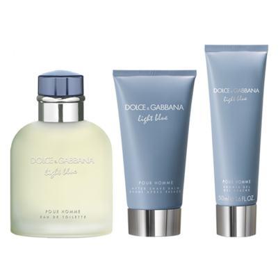 Imagem 2 do produto Dolce&Gabbana Light Blue Homme  Kit - Eau de Toilette + Gel de Banho + Pós-Barba - Kit