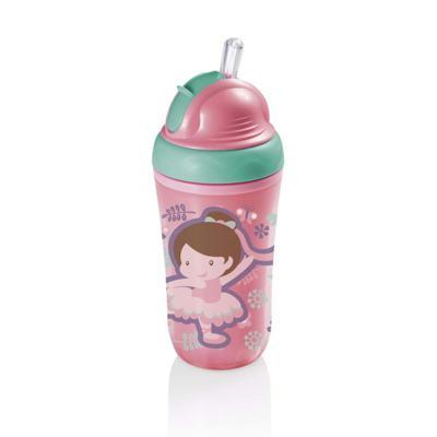 Imagem 1 do produto Copo Térmico Com Canudo De Silicone Cool Rosa 24M+ Multikids Baby - BB035 - BB035