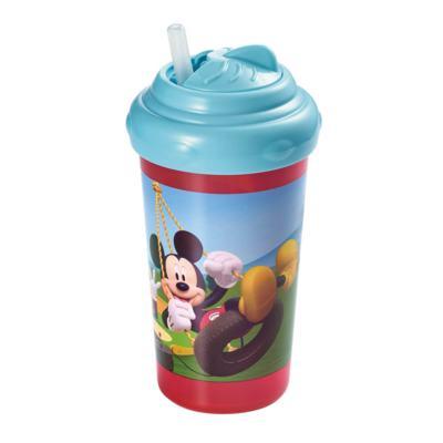 Imagem 1 do produto Copo Com Canudo De Silicone 300Ml Mickey Multikids Baby - BB082 - BB082