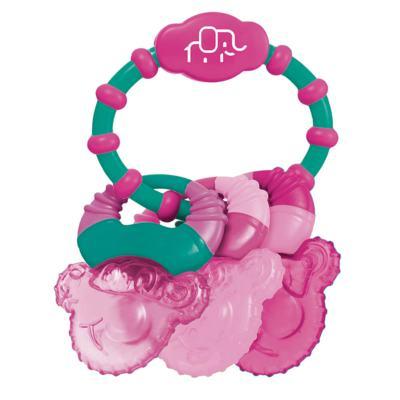 Imagem 1 do produto Mordedor Com Gel Cool Rings Rosa Multikids Baby - BB167 - BB167