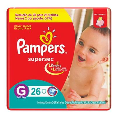 Fralda Pampers SuperSec G 26 unidades
