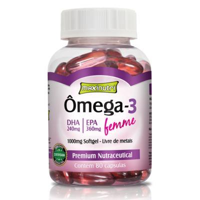 Imagem 1 do produto Ômega 3 Femme 80cps - Maxinutri - 80Cps