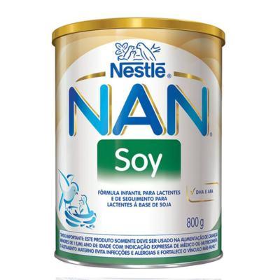 Imagem 1 do produto Kit Fórmula Infantil Nestlé Nan Soy 800g 12 unidades -