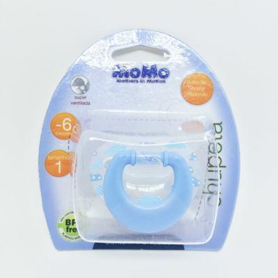 Imagem 2 do produto Chupeta Momo Silicone Redondo Azul 0 - 6 meses Tam 1 -