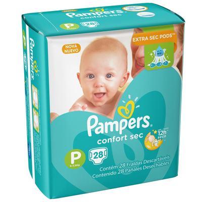 Fralda Pampers Confort Sec P 28 unidades