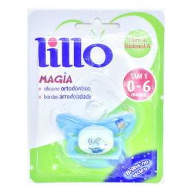 Chupeta Lillo Magia Brilha No Escuro Ortodôntico 0 - 6 meses Tam 1 Azul Coelho