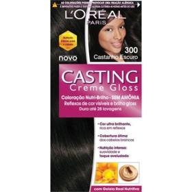 Coloração Creme L'Oréal Paris Casting Creme Gloss - 300 Castanho Escuro | 1 unidade
