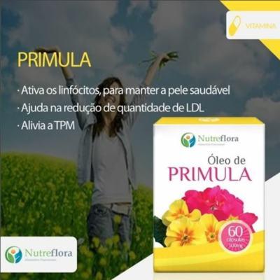 Imagem 2 do produto Óleo de Prímula - 500 mg - 60 cápsulas - Nutreflora -