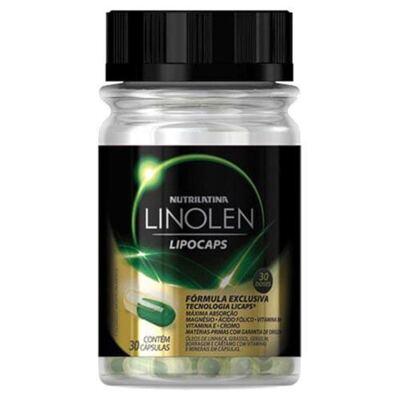 Linolen Lipocaps Nutrilatina - Suplemento Redutor de Peso - 30 Cáps