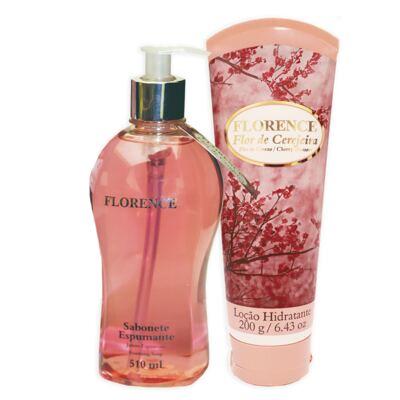 Imagem 2 do produto Flor de Cerejeira Florence - Kit Sabonete Espumante 510ml + Loção Corporal 200g - Kit
