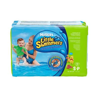 Fraldas Huggies Little Swimmers Mar e Piscina P 12 unidades