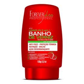 Leave-in Forever Liss Banho de Verniz Morango 5 em 1 150g
