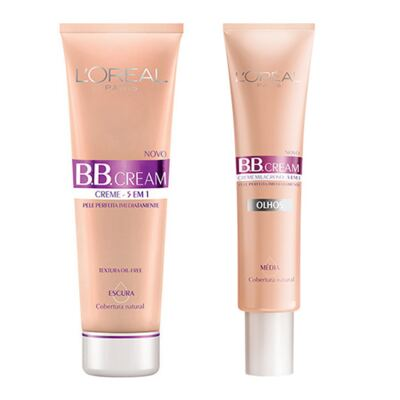 BB Cream 5 em 1 SPF20 L'oréal Paris - Base Escura 50ml + Base Média 15ml - Kit