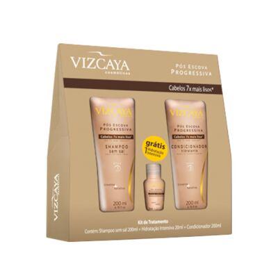 Kit Shampoo + Condicionador + Ampola Vizcaya Pós Escova - Kit