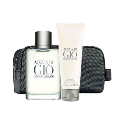 Imagem 2 do produto Acqua Di Giò Homme Eau de Toilette Giorgio Armani Kit - Perfume + Gel de Banho + Miniatura - Kit - inativo