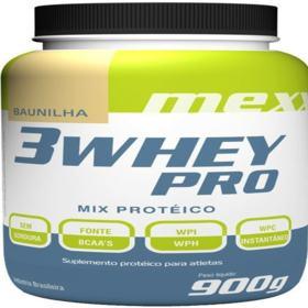 3 Whey Pro Mexx 900G - Mednutrition - 3 Whey Pro Mexx 900G - Mednutrition - Baunilha