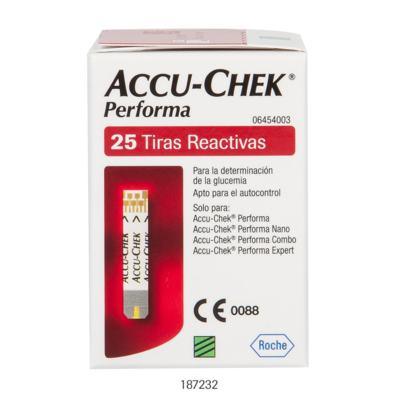 TIRA PARA TESTE DE GLICOSE PERFORMA ACCU-CHECK - Caixa com 50 Unidades