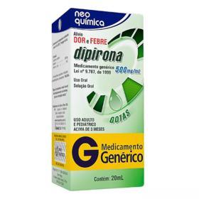 Dipirona Sódica Genérico Neo Quimica - 500mg | 20ml
