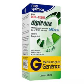 Dipirona Sódica Genérico Neo Química - 500mg | 20ml
