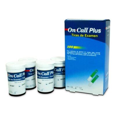 Imagem 2 do produto TIRA ANALISE GLICOSE ON CALL PLUS - Caixa com 100 Unidades