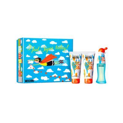 Imagem 1 do produto I love love Moschino - Feminino - Eau de Toilette - Perfume + Gel de Banho + Loção Corporal - Kit