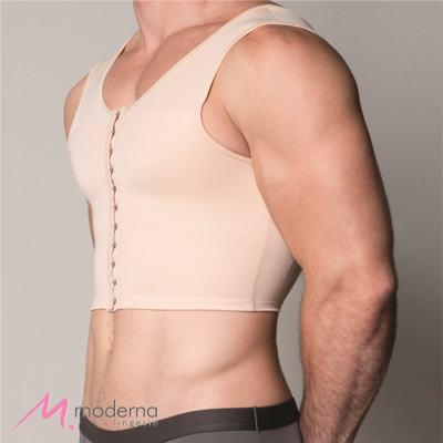 Imagem 2 do produto Corpete Masculino Curto com Abertura Frontal Ref 3306 Cinta Moderna - Corpete Masculino Curto Ref 3306 Moderna Bege M