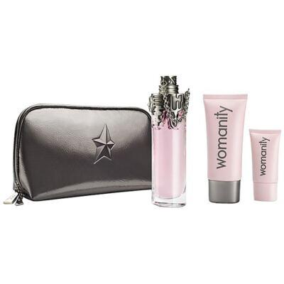 Imagem 1 do produto Womanity Mugler - Feminino - Eau de Parfum - Perfume + Loção Corporal + Gel de Banho - Kit