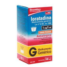 Loratadina Xarope Genérico Biosintética (Aché) - 1mg/ml | 100ml