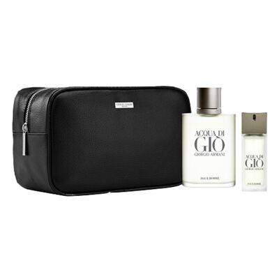 Acqua Di Gio Pour Homme Giorgio Armani - Masculino - Eau de Toilette - Perfume + Edt + Nécessaire - Kit