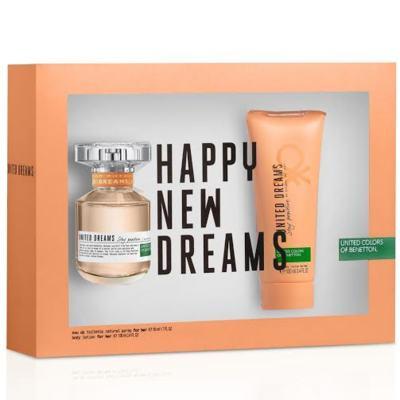 Kit United Dreams Stay Positive Benetton Eau de Toilette Feminino - 80 ml