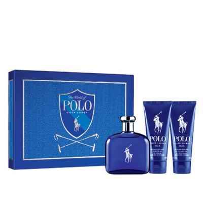 Imagem 1 do produto Polo Blue Ralph Lauren - Masculino - Eau de Toilette - Perfume + Pós Barba + Gel de Banho - kit