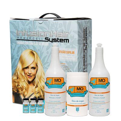 Imagem 1 do produto Kit Shampoo + Condicionador + Máscara Capilar + Ampolas Miracle OIl Kit Óleo de Argan Infusion - Kit