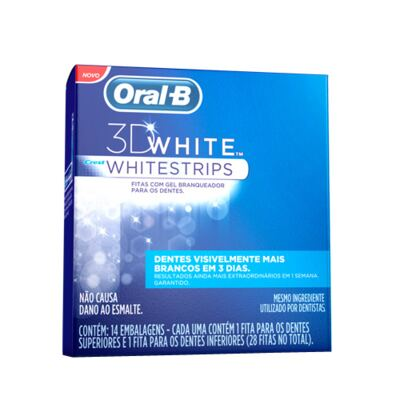 Imagem 1 do produto 3D White Oral B - Fita Dental Branqueadora - 14 Un