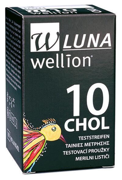 Imagem 1 do produto TIRA TESTE DE COLESTEROL DUO CHOL WELLION - Caixa com 10 Unidades