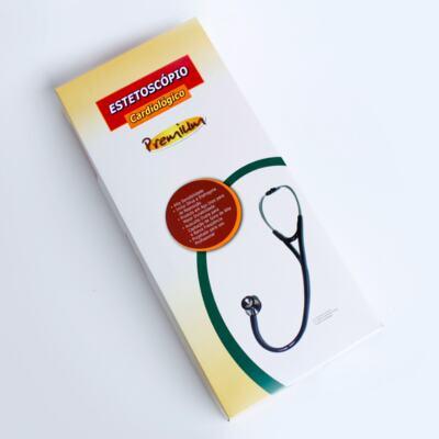Imagem 4 do produto Kit Esteto Cardiológico Preto com Aparelho de Pressão Vermelho Premium