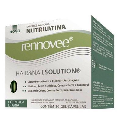 Imagem 1 do produto Renovee Hair & Nail Solution Nutrilatina - Suplemento Fortalecedor para Cabelos e Unhas - 30 Cáps