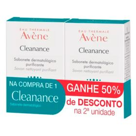 Kit Cleanance Purificante Avène - Sabonete em Barra - Kit