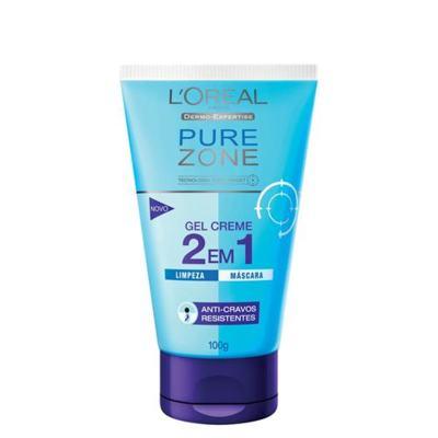 Limpador Facial L'Oréal Paris Gel Creme 2 em 1 Pure Zone Dermo Expertise - 100g