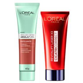 L'Oréal Paris Kit - Cicatri-Correct + Detox Argila Pura Esfoliante - Kit