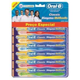 Escova Dental Média Oral-B Classic Limpeza Brilhante