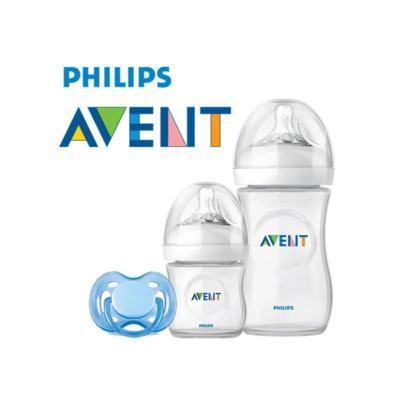 Imagem 1 do produto Kit Avent Petala Mamadeira 125, 260ml Chupeta Freeflow -
