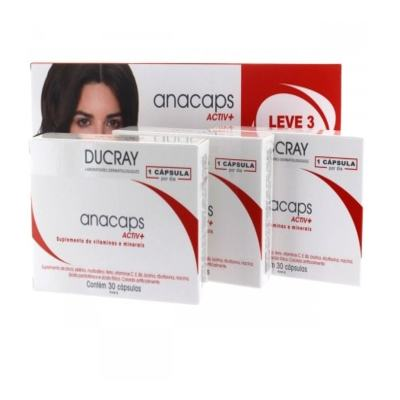 Anacaps Ducray Active+ - caixa com 90 comprimidos, leve 3 pague 2