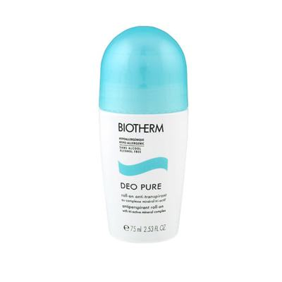 Deo Pure Anti-Transpirant Biotherm - Anti-Traspirante Roll-On sem Álcool - 75ml
