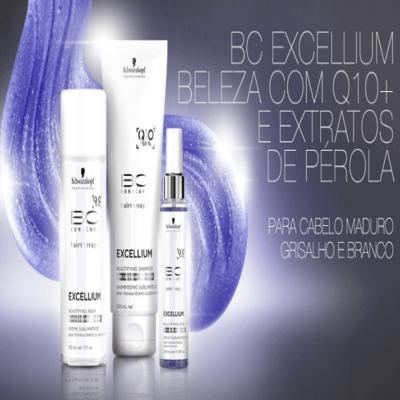 Imagem 3 do produto Schwarzkopf BC Bonacure Excellium Beautifying Silver Souflle - Schwarzkopf BC Bonacure Excellium Beautifying Silver Souflle 200ml