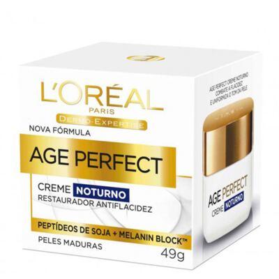 Imagem 1 do produto Rejuvenescedor Facial L'Oréal Paris Age Perfect Noturno Dermo Expertise - 49g
