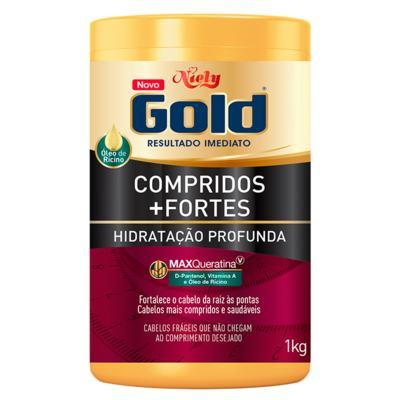Niely Gold Compridos + Fortes - Máscara de Hidratação Profunda - 1kg