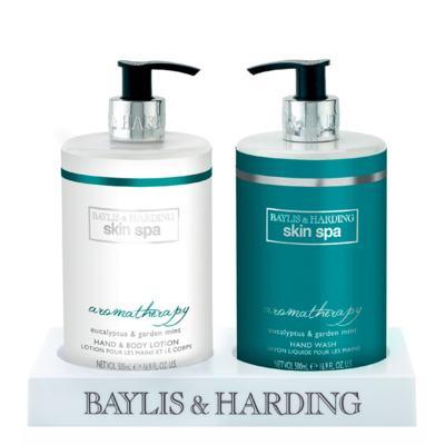 Aromatherapy Eucalyptus & Garden Mint Baylis & Harding - Sabonete Líquido + Loção Corporal - Kit